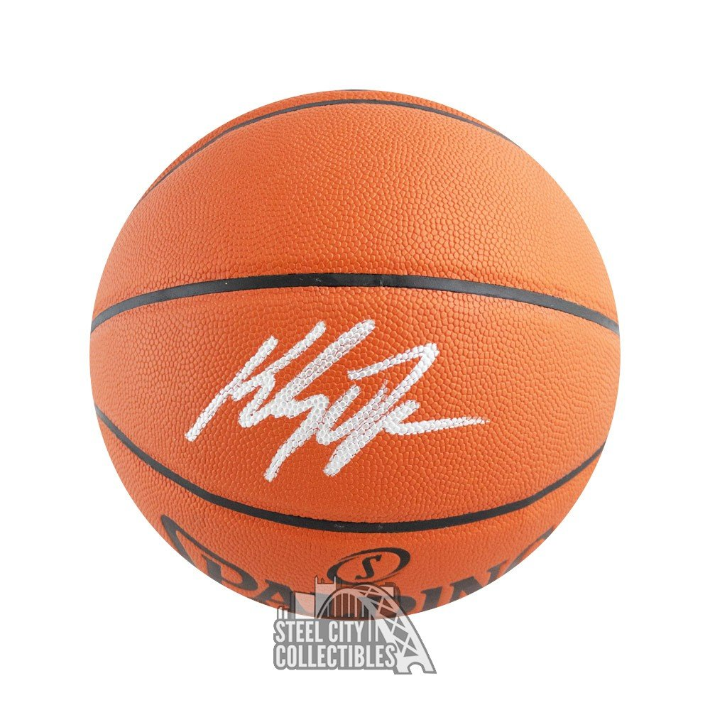 best service 6f0bf f7dcc Klay Thompson Autographed Spalding Basketball - Fanatics COA