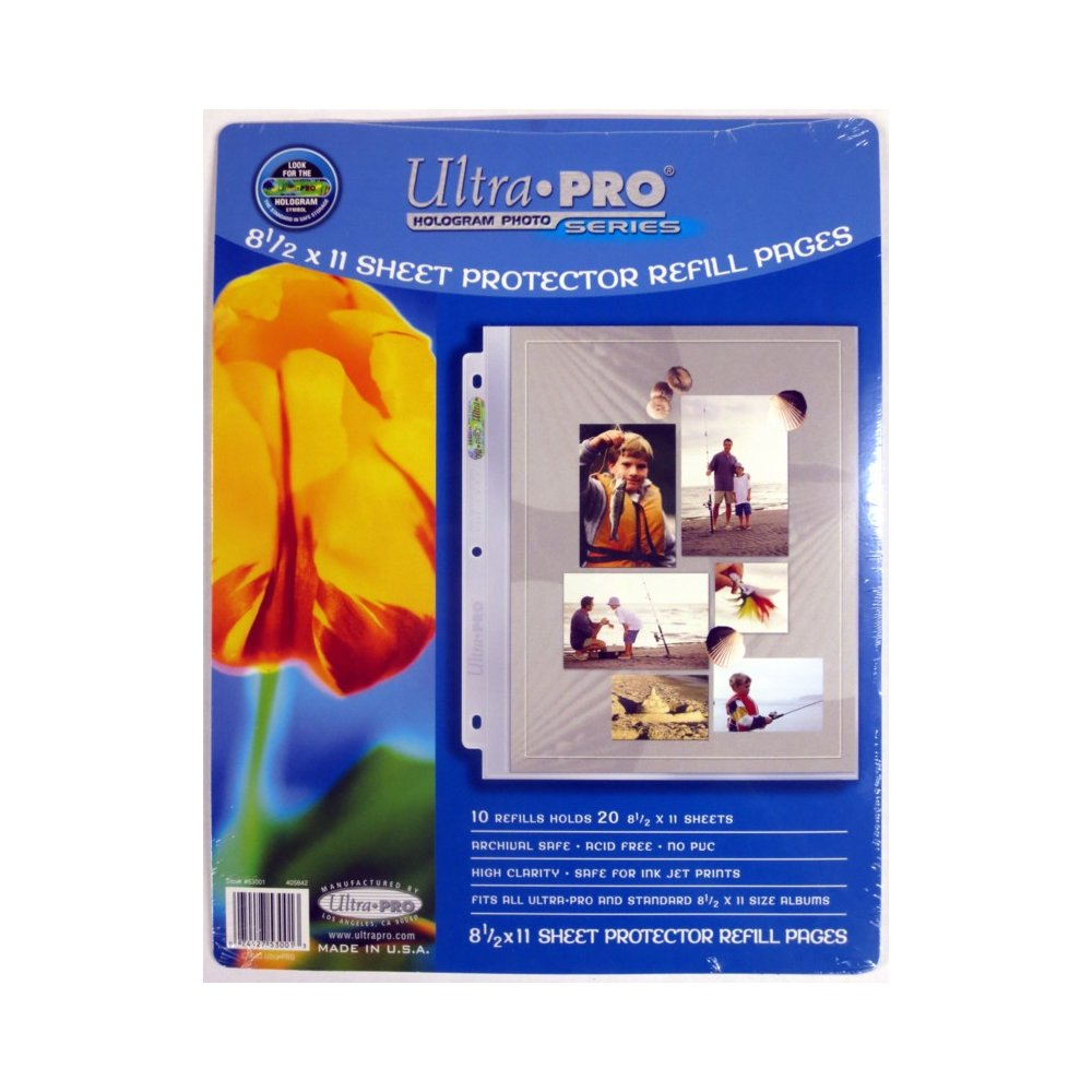 Ultra Pro 85x11 Photo Page Refills 10ct Pack