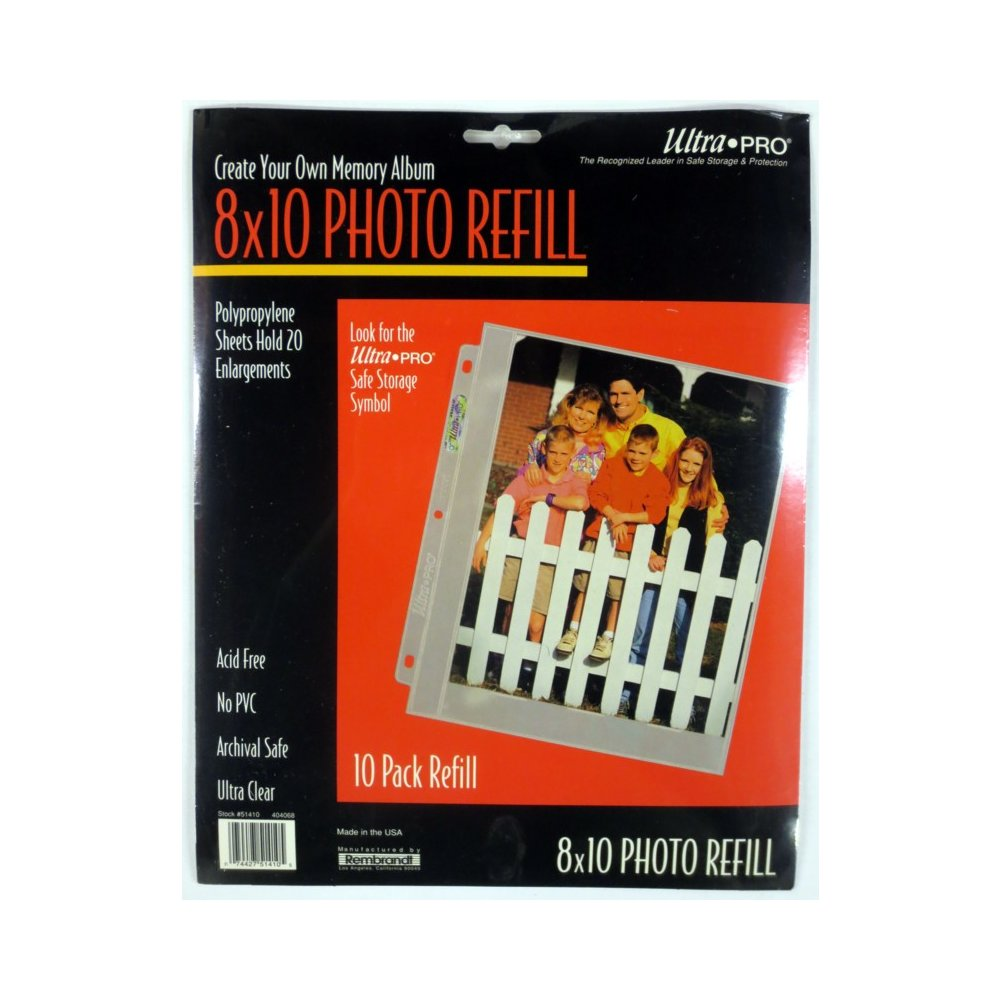 Ultra Pro 8x10 Photo Page Refills 10ct Pack