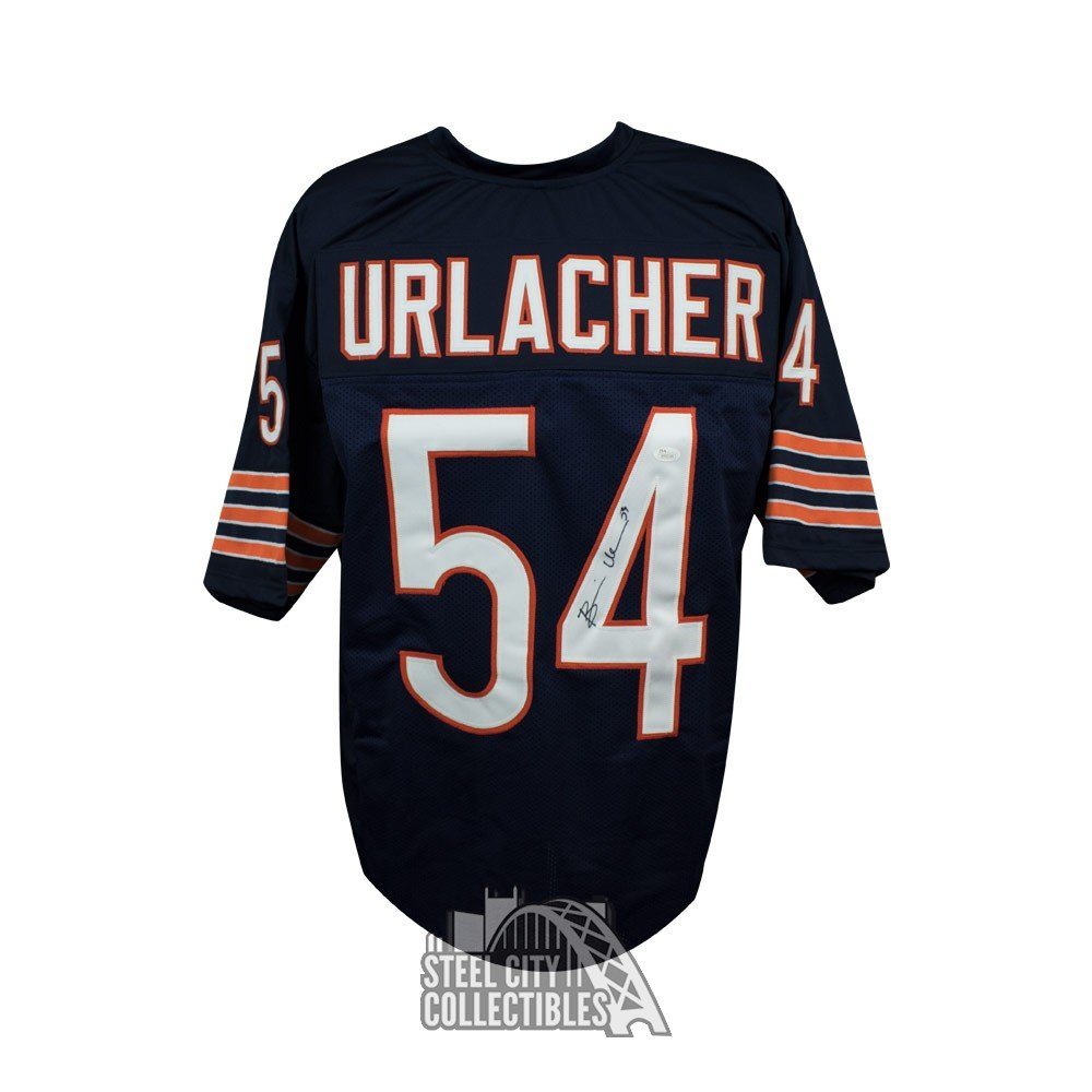 buy popular c24c7 fa001 Brian Urlacher Autographed Chicago Bears Custom Navy Football Jersey - JSA  COA