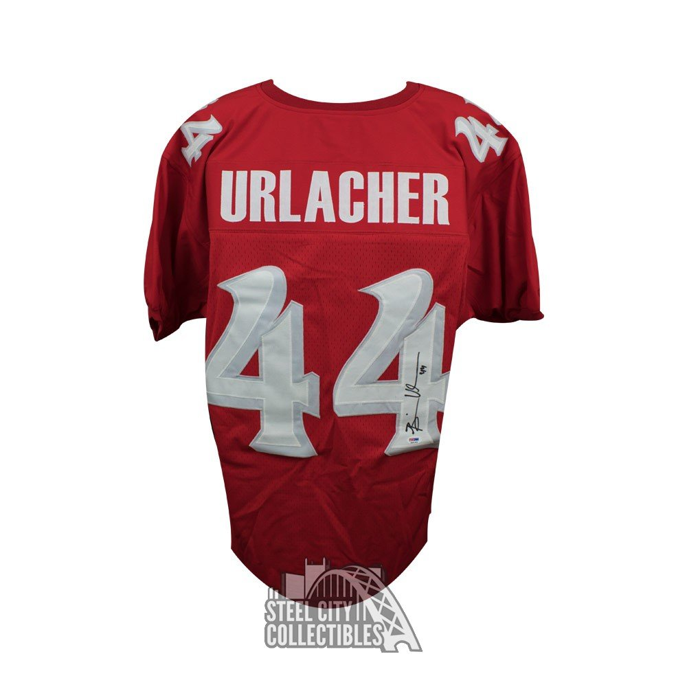 brand new a5a2c 86568 Brian Urlacher Autographed New Mexico Custom Red Football Jersey - PSA/DNA