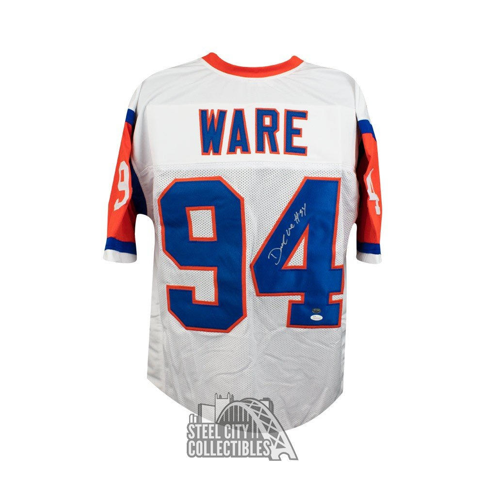 quality design 56936 6ae41 DeMarcus Ware Autographed Denver Broncos Custom Throwback Football Jersey -  JSA