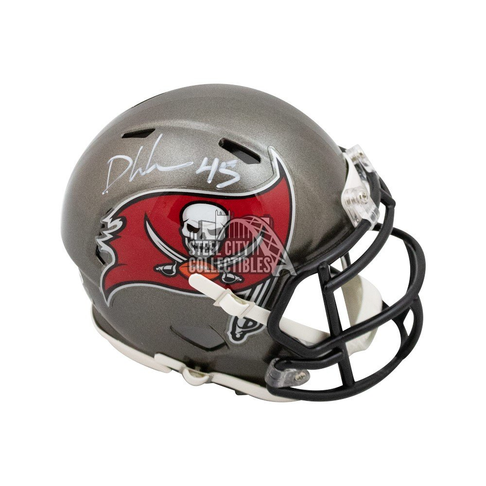 Devin White Autographed Tampa Bay Buccaneers Mini Football Helmet Bas Coa Steel City Collectibles