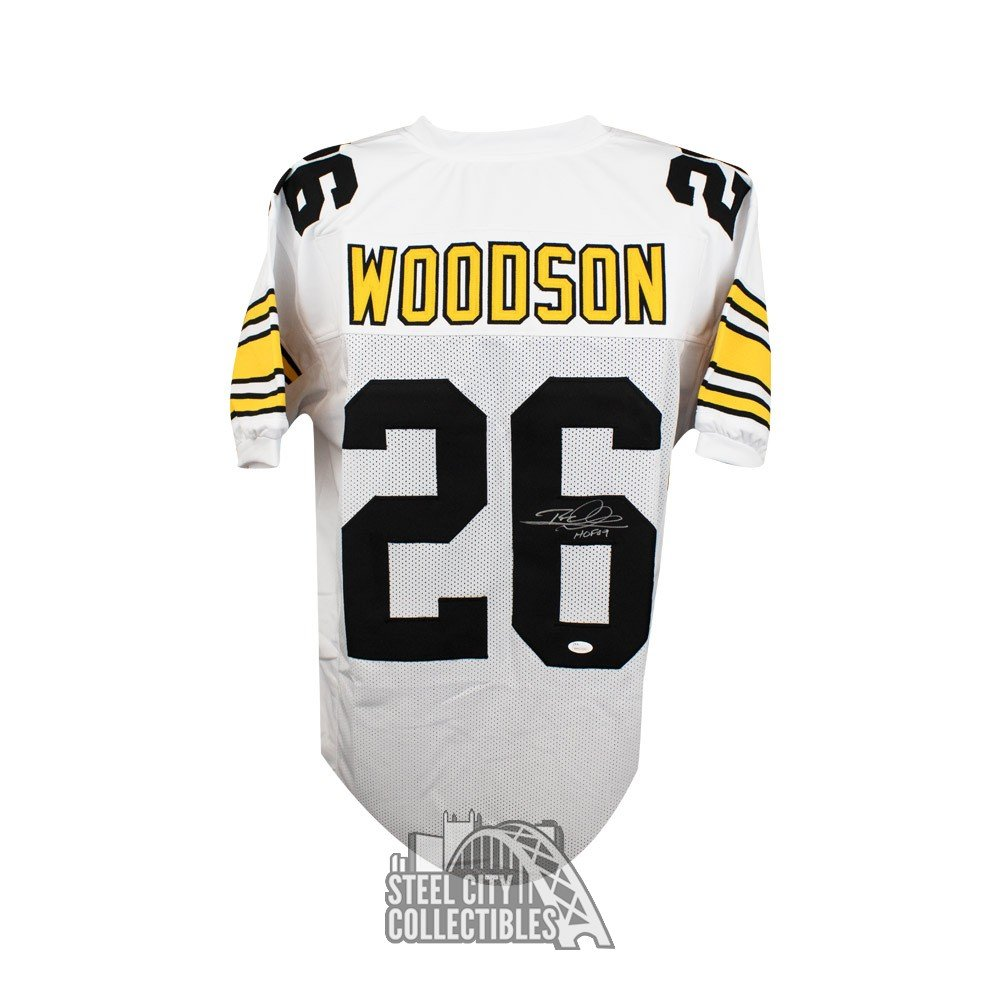 online store c6376 b73c3 Rod Woodson HOF Autographed Pittsburgh Steelers Custom White Football  Jersey JSA