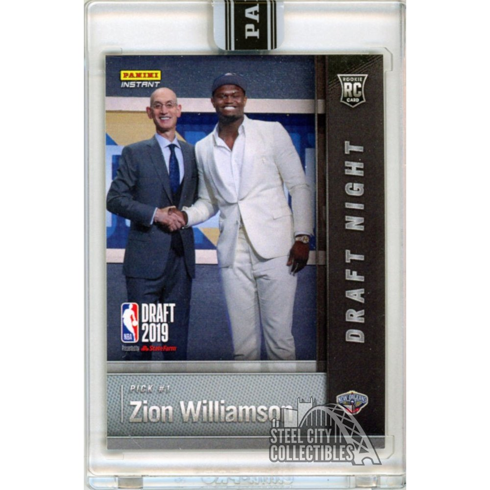 Zion Williamson 2019 Panini Instant Draft Night Rookie Card Dn Zw 1 Pick 2525