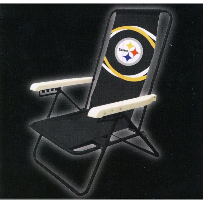 Pittsburgh Steelers Nfl Beach Chair Steel City Collectibles