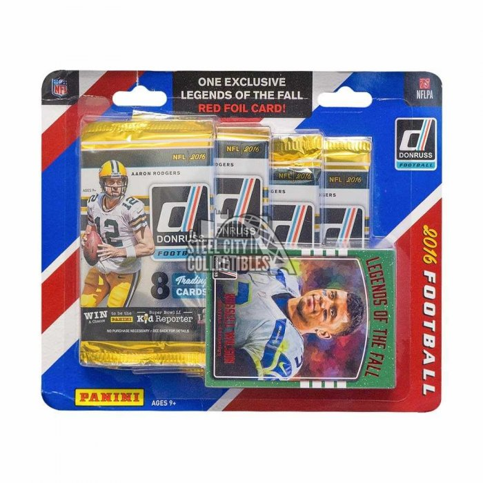 2016 Panini Donruss Football Retail 4ct Blister Pack | Steel City ...