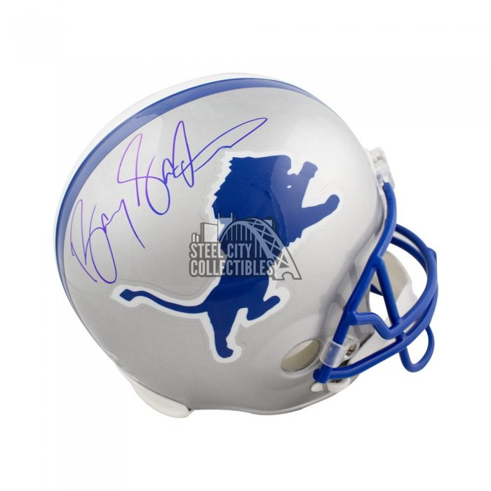 b233f29facd Barry Sanders Autographed Detroit Lions Full-Size Football Helmet - Tristar  COA | Steel City Collectibles