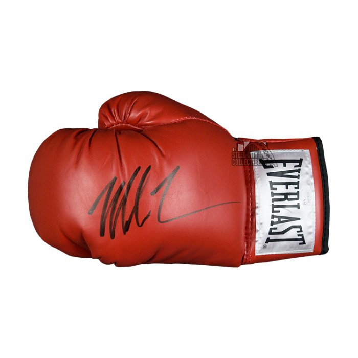 Autographed//Signed Mike Tyson Red Everlast Boxing Glove Athlete Hologram COA
