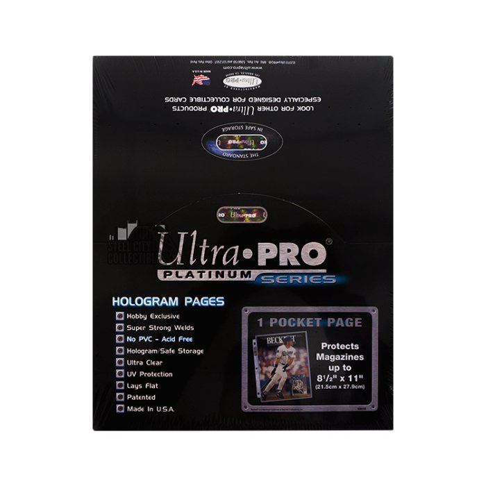 Ultra Pro 85x11 Refill Pages 60 Pockets For Christmas