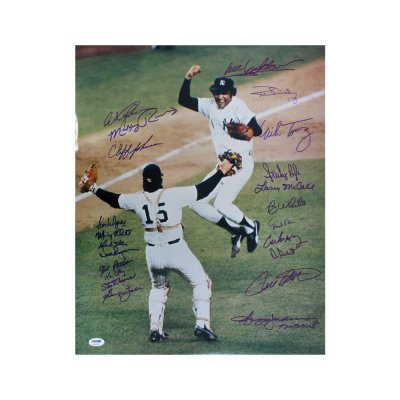 1518f747117 1977 New York Yankees Autographed 16x20 Photo (22 Signatures) - PSA/DNA LOA