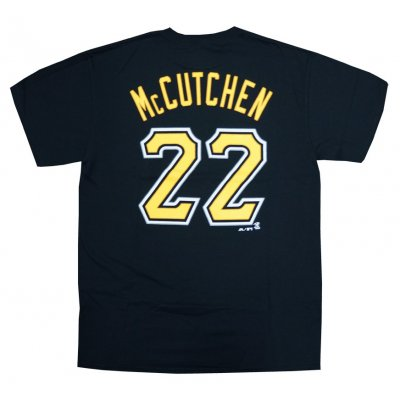 1bc180b99d0 Andrew McCutchen Pittsburgh Pirates Majestic MLB Black Name   Number T-Shirt