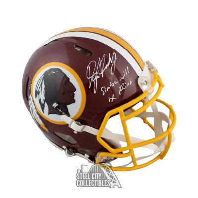 34229a522071 Dwayne Haskins Simba Will Be King Autographed Redskins Authentic Full-Size  Helmet BAS
