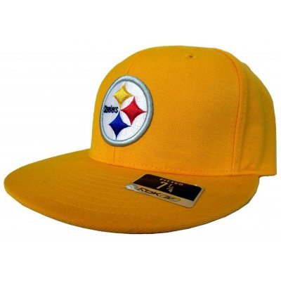 948a9fb5e9945 Pittsburgh Steelers Reebok NFL Gold Fitted Hat
